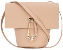 Zac Zac Posen - clip detail crossbody bag - women - Calf Leather - OS - NUDE & NEUTRALS