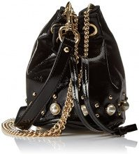 Steve Madden Bcarly Handbag - cartella Donna, Schwarz (Black), 15x16x15 cm (B x H T)