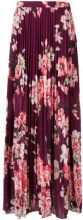 Liu Jo - floral pleated maxi skirt - women - Polyester - 42, 44, 46 - RED