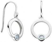 Dew Donna  925  argento Rotonda   blu Topazio