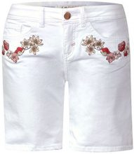 Street One 371455 Kate, Bermuda Donna, Multicolore (White Denim Wash 11456), W27