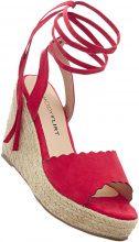 Sandalo con zeppa (Rosso) - BODYFLIRT