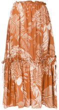 See By Chloé - Gonna svasata con motivo stampato - women - Cotone/Viscose - 30, 36, 38, 40 - Marrone