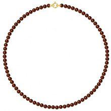 Pearls & Colors–Collana Multifilo–Oro Giallo 9kt–Perla D' Acqua Dolce–42cm–am-9cc 55ar3j-cho