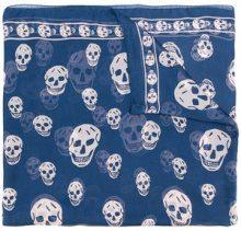 Alexander McQueen - Sciarpa stampa teschio - women - Silk - OS - Blu