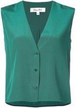 Dvf Diane Von Furstenberg - sleeveless V-neck blouse - women - Silk - XXS, XS, S, M, L - GREEN