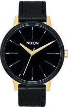 Nixon - Kensington Leather 37 mm Gold/Black/White - Orologio Donna