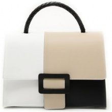 Borsa color block in pelle