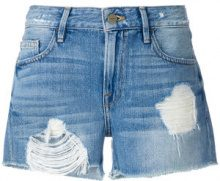 Frame Denim - Shorts denim con effetto consumato - women - Cotton - 24, 27, 25, 28 - BLUE