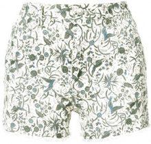 Isabel Marant Étoile - Shorts stampati 'Uruguay' - women - Cotone/Spandex/Elastane - 40 - NUDE & NEUTRALS