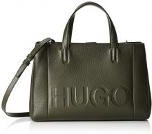 HUGO Mayfair Tote - Borse Donna, Verde (Medium Green), 15x24.5x36 cm (B x H T)