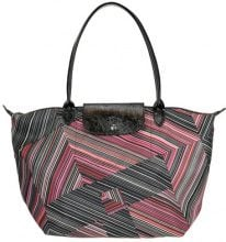 Borsa 'Le Pliage' in nylon optical