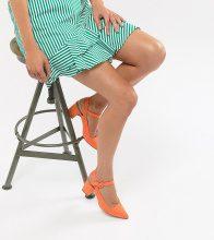 Missguided - Scarpe a punta con tacco largo in pelle sintetica scamosciata - Arancione