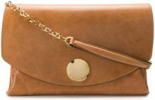 L'Autre Chose - Borsa Clutch - women - Calf Leather/Polyester - OS - BROWN