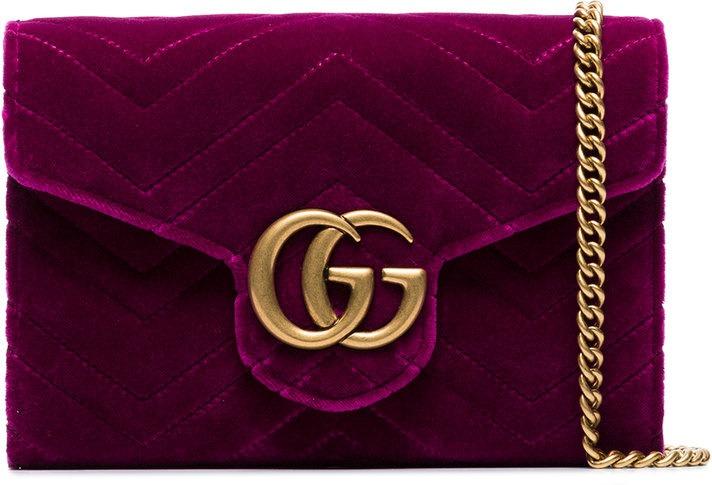 62bd6478f2 Gucci - Borsa a tracolla 'GG Marmont' - women - pelle/velluto - Taglia  Unica - di colore rosa
