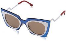 Fendi FF 0117/S UT IC4, Occhiali da Sole Donna, Turchese (Turquoi White/Dk Brown), 49