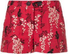 Red Valentino - Shorts ricamati - women - Cotone/Polyamide/Polyester/Acetate - 40 - RED