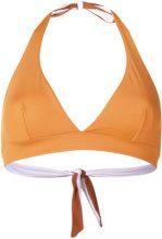 Fisico - Top bikini reversibile - women - Polyamide/Spandex/Elastane - XS, L - Marrone