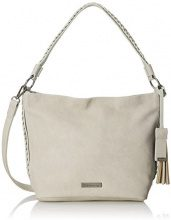 Tamaris Nadya Hobo Bag S - Borse a spalla Donna, Grau (Light Grey), 12.5x25x25 cm (B x H T)