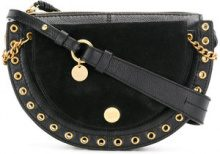 See By Chloé - Borsa a spalla con borchie - women - Leather/Cotton/Calf Leather - One Size - BLACK