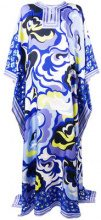 Emilio Pucci - abstract print kaftan dress - women - Silk - One Size - BLUE