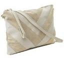 Almo - Borsa donna in vera pelle scamosciata made in Italy a tracolla, colore: beige