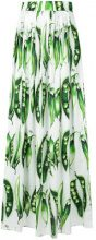 Dolce & Gabbana - Gonna con stampa - women - Cotton/Spandex/Elastane - 42 - WHITE