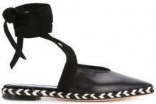 JW Anderson - Mules con nodo alla caviglia - women - Lamb Skin/Leather - 36, 39, 40 - Nero