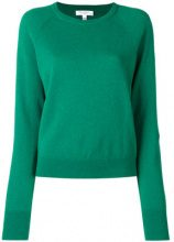 Equipment - cashmere ribbed neck jumper - women - Cashmere - XS, S, M - GREEN