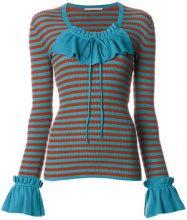 Marco De Vincenzo - Top a righe - women - Virgin Wool - 40, 42 - BLUE