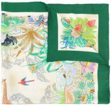 Gucci - Sciarpa 'Flora' - women - Silk - OS - GREEN