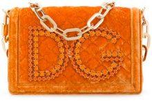 Dolce & Gabbana - Borsa a spalla 'DG Girls' - women - Silk/Calf Leather/Viscose - OS - YELLOW & ORANGE