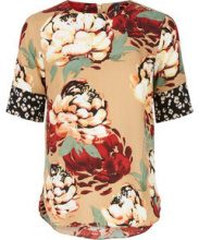 Y.A.S Printed Blouse Women Blue