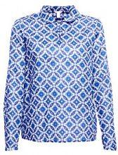 ESPRIT 028ee1f005, Camicia Donna, (Bright Blue 410), 44 (Taglia Produttore: 38)