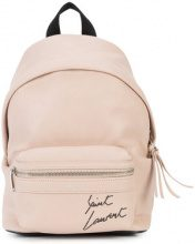 - Saint Laurent - City Toy backpack - women - Canvas/Leather - Taglia Unica - Rosa & viola