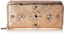 Love Moschino Portafogli Embossed Tpu Rame - Pochette da giorno Donna, Marrone (Copper), 3x10x20 cm (B x H T)