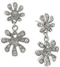 1928 Jewelry Silver-Orecchini a pendente, motivo floreale, con cristalli