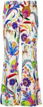 Etro - Pantaloni crop - women - Viscose - 42 - Bianco