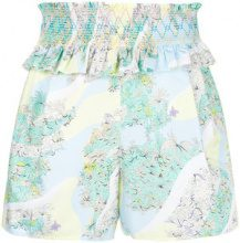 - Emilio Pucci - ruffled floral shorts - women - Cotone - 44, 38, 40, 42 - Multicolore