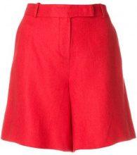 Loro Piana - Shorts con zip - women - Linen/Flax - 42 - RED