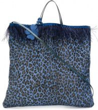 Danielapi - Borsa tote con stampa animalier - women - Leather - OS - BLUE
