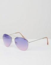 Pieces - Occhiali da sole modello aviatore con lenti viola