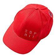 ESPRIT Accessoires 038ea1p001, Berretto da Baseball Donna, Rosso (Red 630) Unica (Taglia Produttore: 1SIZE)