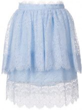 Ermanno Scervino - Gonna con pannelli in pizzo - women - Polyester/Polyamide/Silk - 38, 40, 42 - BLUE