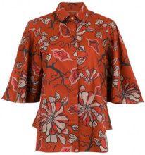 Sissa - Floral Agreste shirt - women - Cotone - 40 - RED