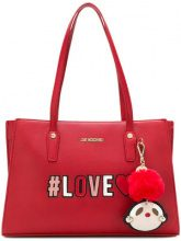 Love Moschino - Love logo tote bag - women - Leather - One Size - Rosso