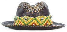 Ibo Maraca - Gypsy King hat - women - Straw - M - BLACK