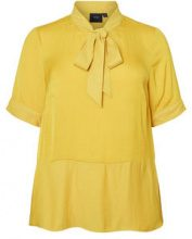 JUNAROSE 2/4 Sleeved Woven Blouse Women Yellow