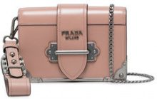 Prada - Borsa Cahier mini - women - Leather - OS - PINK & PURPLE