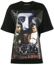 - Y / Project - T - shirt oversize 'The Real Slim Shady' - women - Cotone - XXS - Nero